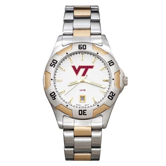 Virginia Tech Men's All-Pro Two Tone Watch