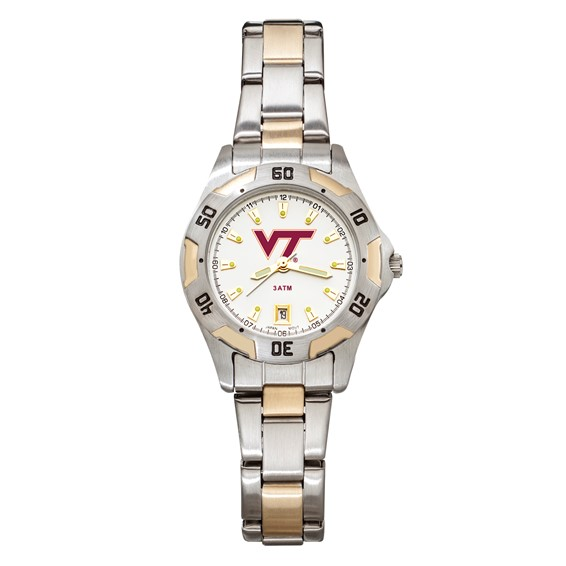Virginia Tech Women's All-Pro Two Tone Watch