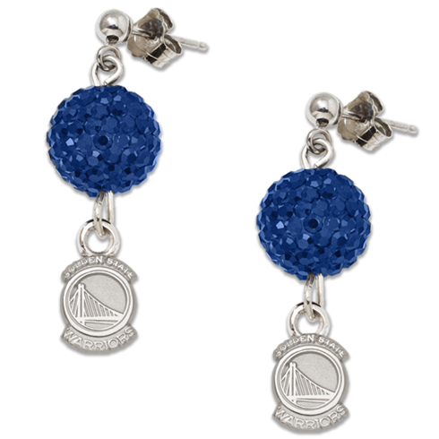 Sterling Silver Golden State Warriors Ovation Earrings