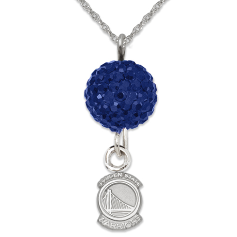 Sterling Silver Golden State Warriors Ovation Necklace
