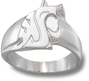 Sterling Silver Washington State Cougars Men's Ring
