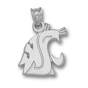 Sterling Silver 9/16in Washington State Cougar Head Pendant