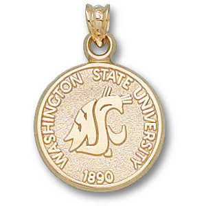 Washington State 5/8in 10k Seal Pendant