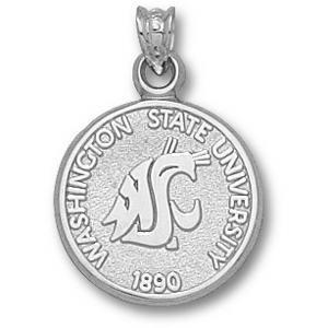 Washington State 5/8in Sterling Silver Seal Pendant