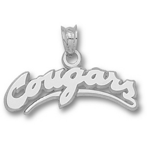 Washington State Cougars 5/16in Sterling Silver Pendant
