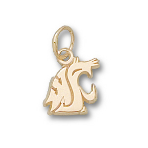 10kt Yellow Gold 3/8in Washington State Cougars Head Charm