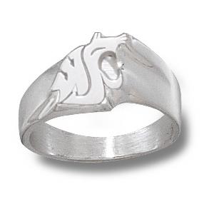 Sterling Silver Washington State University Ladies' Ring