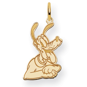 Pluto Charm 5/8in - 14k Gold