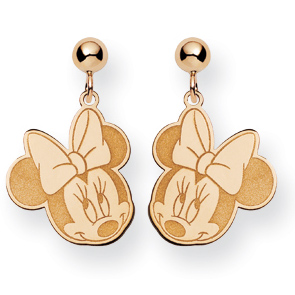 Minnie Dangle Post Earrings - Gold-Plated