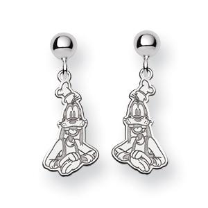 Sterling Silver Goofy Post Dangle Earrings