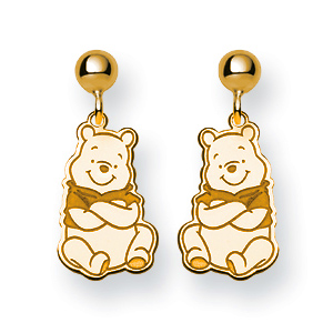 Winnie the Pooh Post Earrings - Gold-Plated