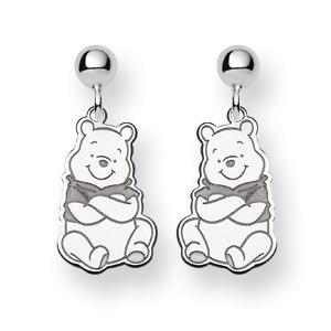 Winnie the Pooh Post Earrings - Sterling Silver