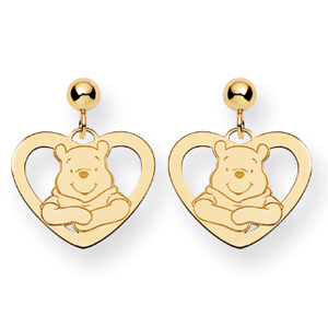Winnie the Pooh Earrings - Gold-Plated