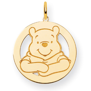 Winnie the Pooh Charm 3/4in - 14k Gold