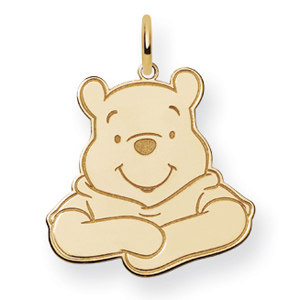 Winnie the Pooh Charm 3/4in - Gold-Plated