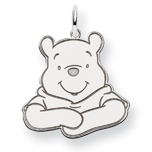 Winnie the Pooh Charm 3/4in - Sterling Silver