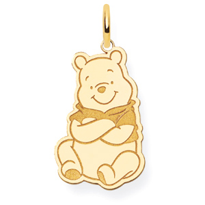 14kt Yellow Gold 3/4in Winnie the Pooh Charm