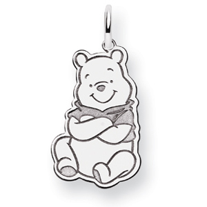14kt White Gold 3/4in Winnie the Pooh Charm