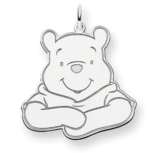 Winnie the Pooh Charm 1in - Sterling Silver
