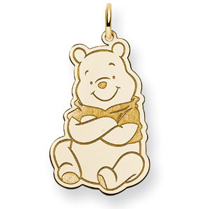 Winnie the Pooh Charm 1in - Gold-Plated
