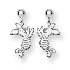 Piglet Post Earrings - Sterling Silver