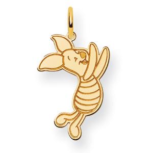 Piglet Charm 7/8in - 14k Gold
