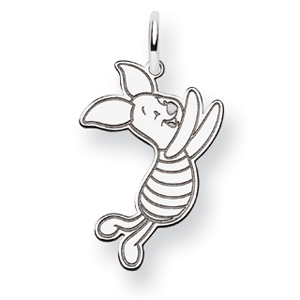 Piglet Charm 7/8in - Sterling Silver