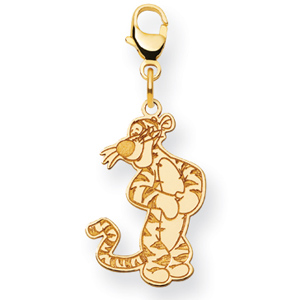 Gold-Plated Sterling Silver 7/8in Tigger Charm