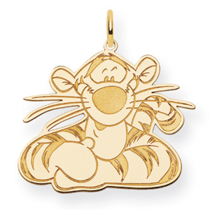 Tigger Charm 7/8in - Gold-Plated