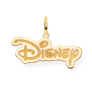 Disney Logo Charm 3/8in - Gold-Plated