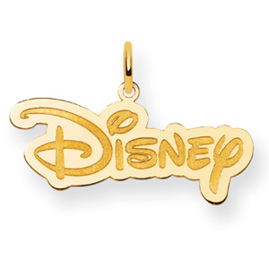 Disney Logo Charm 1/2in - Gold-Plated
