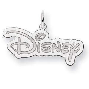 Disney Logo Charm 1/2in - Sterling Silver