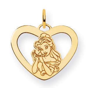 Belle Heart Charm 5/8in - Gold-Plated