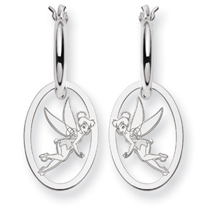 Tinker Bell Hoop Earrings - Sterling Silver