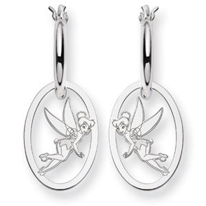 Tinker Bell Hoop Earrings - Sterling Silver
