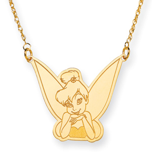 Tinker Bell Necklace 18in - Gold-Plated