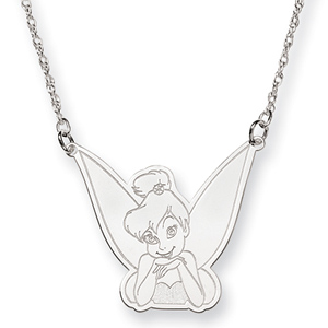 Tinker Bell Necklace 18in - Sterling Silver