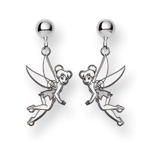 Sterling Silver Tinker Bell Post Dangle Earrings