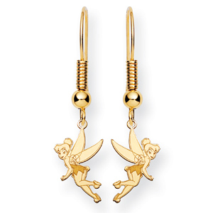 Tinker Bell Wire Earrings - 14k Gold