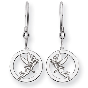 Tinker Bell Round Wire Earrings - Sterling Silver