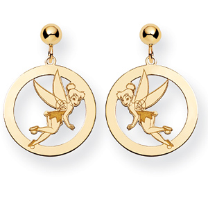 Tinker Bell Round Post Earrings - Gold-Plated