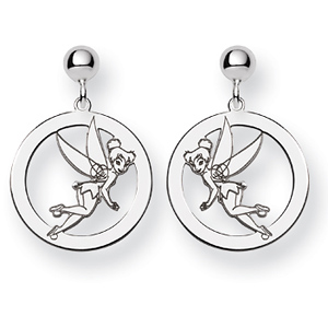 Tinker Bell Round Post Earrings - Sterling Silver