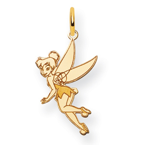 Gold-Plated Sterling Silver 3/4in Tinker Bell Charm