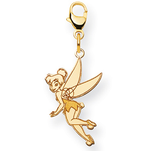 Tinker Bell Charm 3/4in - Gold-Plated