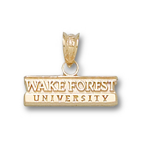 Wake Forest 3/16in 14k Bar Pendant