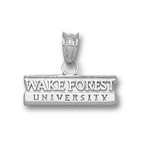 Wake Forest 3/16in Sterling Silver Bar Pendant