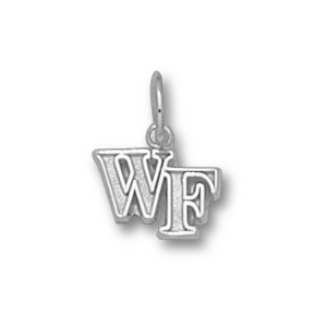Sterling Silver 1/4in Wake Forest WF Pendant