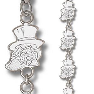Wake Forest Demon Deacons Sterling Silver 7 1/4in Bracelet