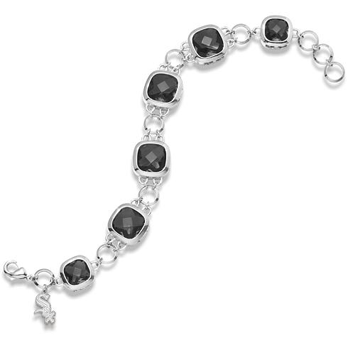 8in Chicago White Sox Crystal Legend Bracelet