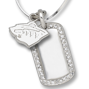 Sterling Silver Minnesota Wild Mini Dog Tag Necklace